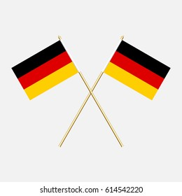 Germany; Germany  Flags. Vector illustration.