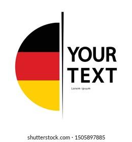 germany flat logo design , germany flat icon vector isolated on white background.