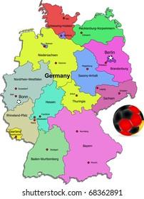 Germany football map illustration