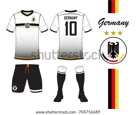 092c315b1c1 Germany football national team in Euro Championship concept. Soccer jersey  or football kit template.