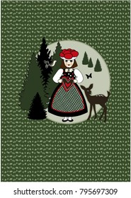 Germany , girl wearing traditional Black Forest costume