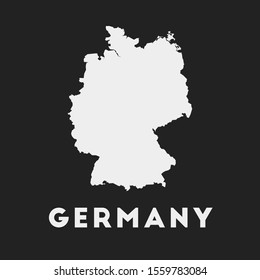 Germany icon. Country map on dark background. Stylish Germany map with country name. Vector illustration.