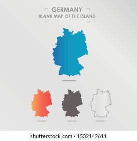 Germany map. Blank vector map of the Island. Borders of Germany for your infographic. Vector illustration.