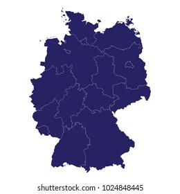 Germany Map Images, Stock Photos & Vectors   Shutterstock