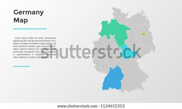 Regions Of Germany Map.Germany Map Divided Into Provinces Regions Stock Vector Royalty