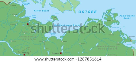 Map Of Germany Coast.Germany Map German Baltic Sea With Stock Vector Royalty Free