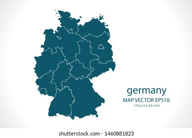 germany map High Detailed on white background. Abstract design vector illustration eps 10
