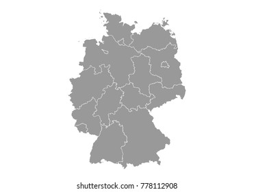 Germany Blank Map Images Stock Photos Vectors Shutterstock