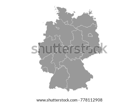 Map Of Germany And Surrounding Counties.Germany Map High Detailed Vector Map Stock Vector Royalty Free