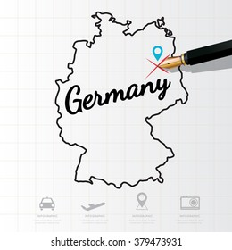Germany map Infographic