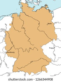 Germany map. Main Rrivers.