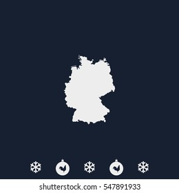 Germany map vector icon.