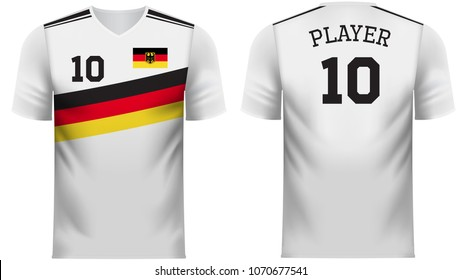 Germany national soccer team shirt in generic country colors for fan apparel.