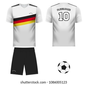 Germany national soccer team shirt in generic country colors for fan apparel
