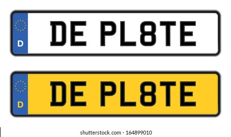 germany number plate
