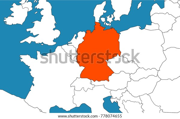 Germany On Map Europe Stock Vector (Royalty Free) 778074655 on england on a map, norway on a map, australia on a map, india on a map, korea on a map, great britain on a map, japan on a map, the netherlands on a map, afghanistan on a map, greece on a map, peru on a map, south america on a map, africa on a map, poland on a map, ireland on a map, world map, russia on a map, caribbean sea on a map, israel on a map, europe on a map,