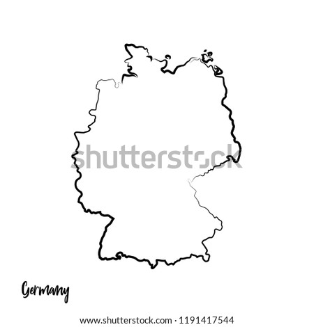 Map Of Germany Outline.Germany Outline Contour Black Map Stock Vector Royalty Free
