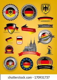 Germany Seals, German Flag (Vector)