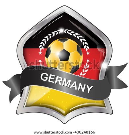 Germany Soccer Elegant Shiny Icon Button Stock Vector Royalty Free