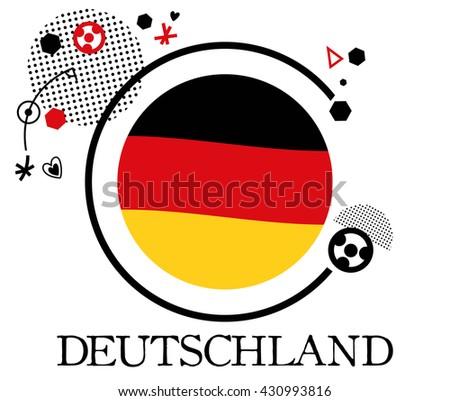 Germany Soccer Symbol 2016 Flat Vector Stock Vector Royalty Free