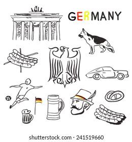 Germany symbols vector set
