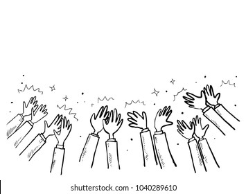 Gesture of the hand sketch