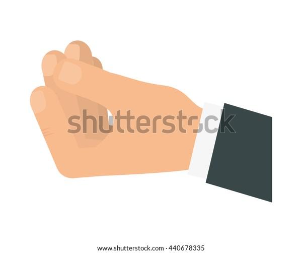 Gesture icon. Human hand  design. vector graphic