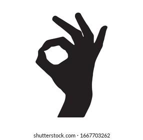 Gesture, OK Hand Sign, Vector Design