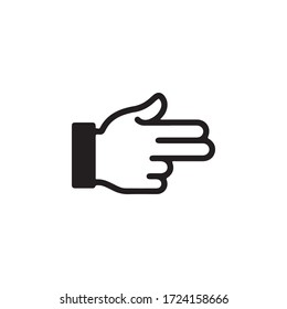 Gestures of Human Hand, Show Towards the Right Icon In Trendy  Design Vector Eps 10