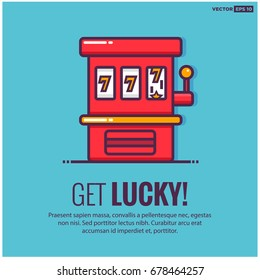 Get Lucky With Slot Machine Game Text Template
