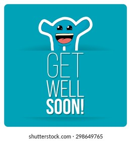 get well soon over color background