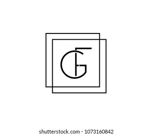 GF or FG company linked letter logo