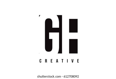 GF G F White Letter Logo Design with Black Square Vector Illustration Template.