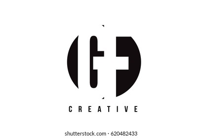 GF G F White Letter Logo Design with Circle Background Vector Illustration Template.