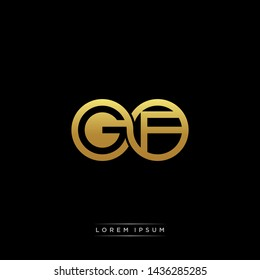 GF initial letter linked circle capital monogram logo modern template
