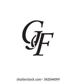 GF initial monogram logo