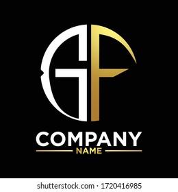 GF initials circle logo monogram designs modern templates luxurious .