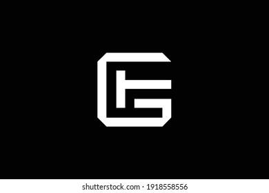 GF letter logo design on luxury background. FG monogram initials letter logo concept. GF icon design. FG elegant and Professional white color letter icon design on black background.