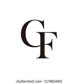 gf letter vector logo. cf letter vector logo