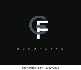 GF Logo. Letter design vector