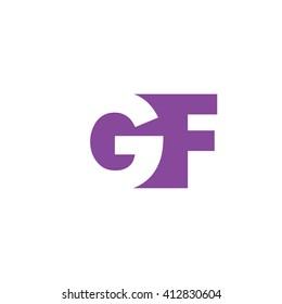 GF Logo. Vector Graphic Branding Letter Element. White Background