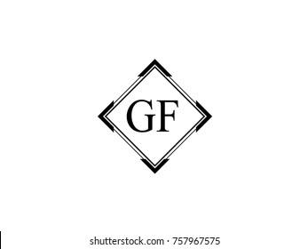 GF square shape vintage logo