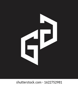 GG Initial Letters logo monogram with up to down style