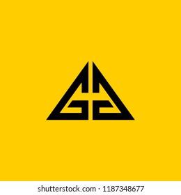 GG letter logo . G logo .