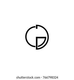 gg letter logo. gd letter logo