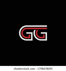 GG letter ‍abstract outstanding professional business awesome artistic branding company different colors illustration logo