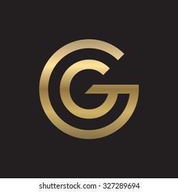 GG letters, golden circle G shape