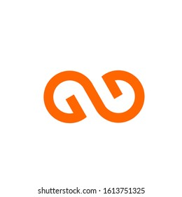 GG logo design simple modern template