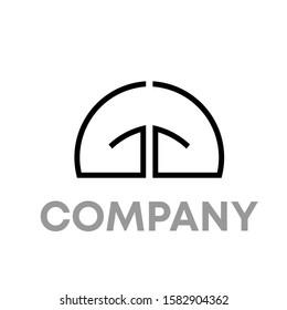gg logo icon design template sign
