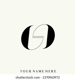 GG monogram logo.Typographic icon with double uppercase letter G in modern, clean, elegant style.Lettering sign isolated on light background.Geometric alphabet initials shapes.